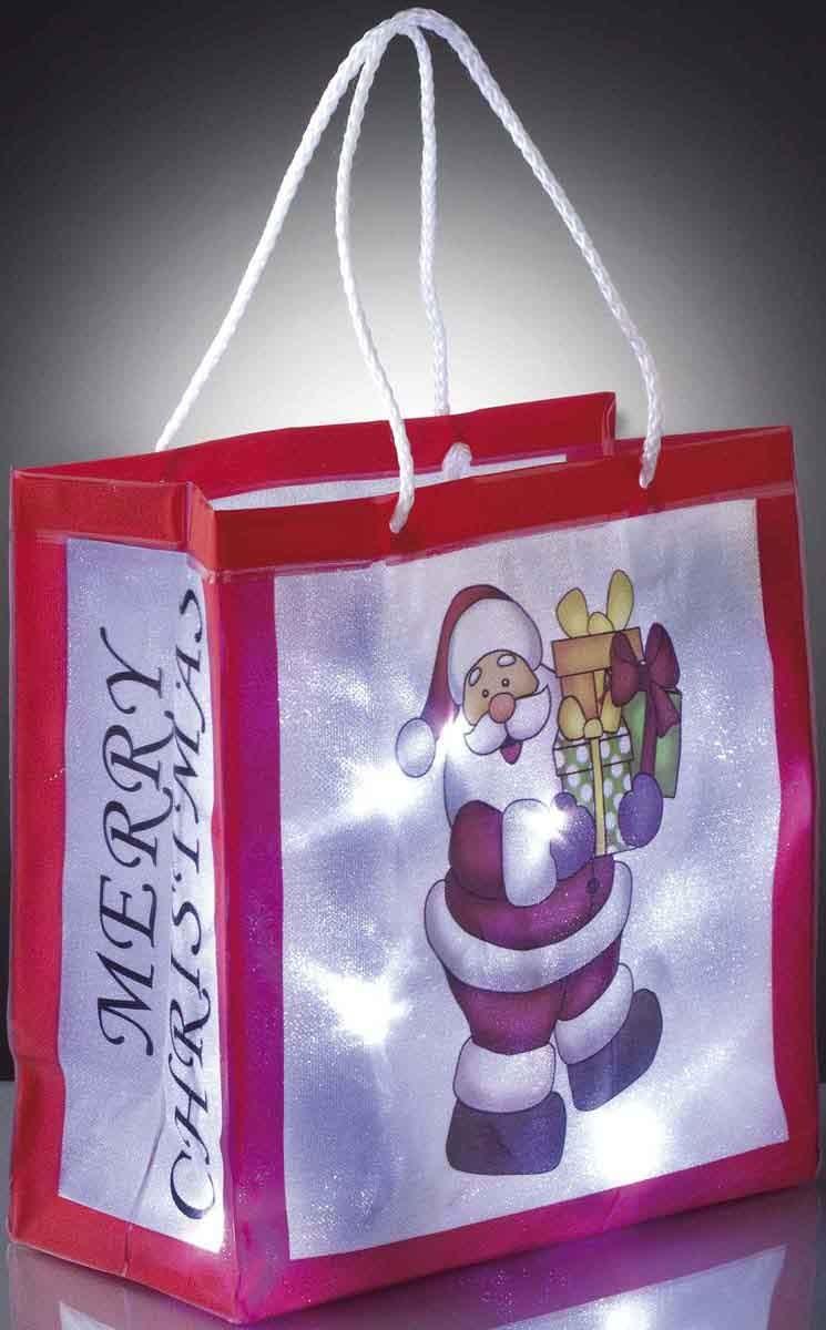 Hellum Glühlampenwerk Deko-Tasche Weihnachtsmann 570953